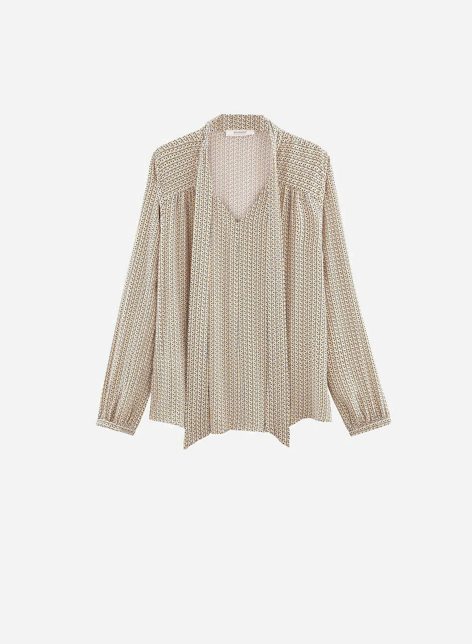 Blusa con fiocco - Promod