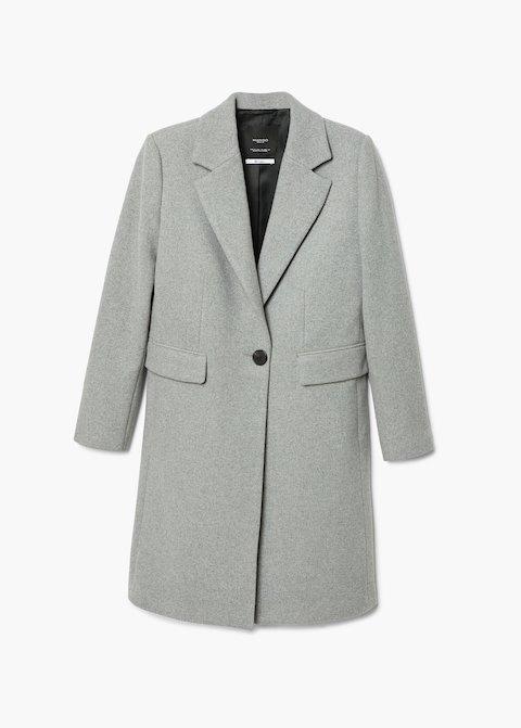 Cappotto lana grigio strutturato (Mango)